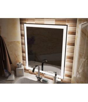 Зеркало в ванную комнату с подсветкой светодиодной лентой Люмиро 85 см (850 мм)