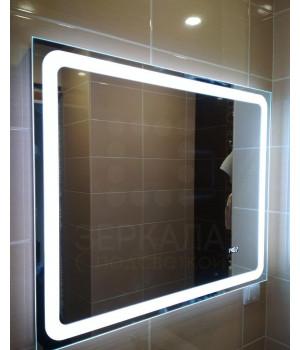 Зеркало для ванной комнаты с LED подсветкой Равенна 75х75 см (750х750 мм)