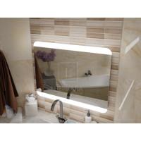Зеркало с подсветкой для ванной комнаты Салерно 150х70 см