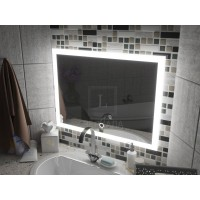 Зеркало с подсветкой для ванной комнаты Верона 140х80 (1400х800)
