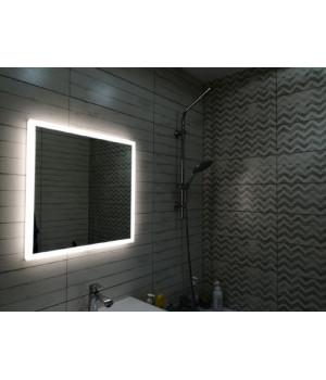 Зеркало с подсветкой для ванной комнаты Верона 45х45 (450х450)