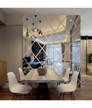 Зеркальное панно с подсветкой на кухню