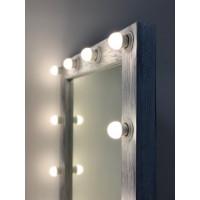 Гримерное зеркало ростовое серебряное 180х80