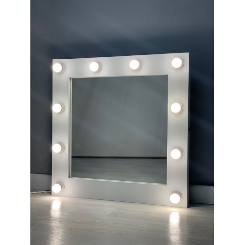 Гримерное зеркало с подсветкой 75х75 см 10 ламп