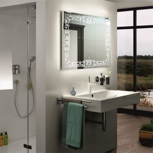 Зеркало в ванную с подсветкой Каролина