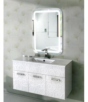 Зеркало с подсветкой в ванную комнату Эстер 60х80 (600х800 мм)