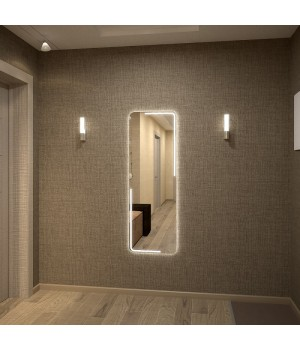 Зеркало с подсветкой в ванную Диана 40х70 см (400х700 мм)
