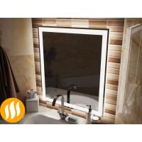 Зеркало в ванную комнату с подсветкой светодиодной лентой и подогревом Люмиро