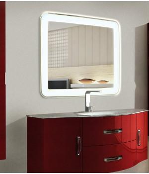 Зеркало в ванную комнату с подсветкой Мила 140-75 см (1400х750 мм)